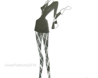 Original fashion illustration - Mod