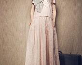boho wedding dress, pink linen dress, maxi linen dress, long dress, linen tunic dress, linen bridesmaid dress, party dress, plus size kaftan