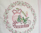 The Little Elves - Christmas Embroidery Pattern PDF - Includes Stitch and Color Guide