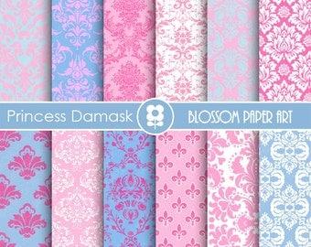 Art culos similares a rosa y negro papel scrapbook - Papeles decorativos para imprimir ...