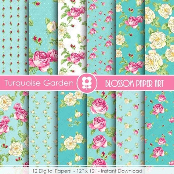 Papeles scrapbook papeles para imprimir flores papeles for Papel decorativo azul