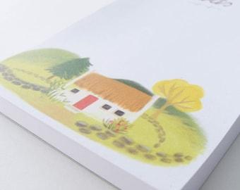 Notepad - Pad - Desktop Notepad - Irish Cottage