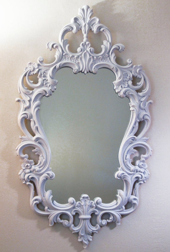 French Country Mirror White Wall Mirror Large Vintage