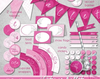 Vintage Ballet FULL Set • PRINTABLE • Birthday • Sweet 16 • by The Occasional Day