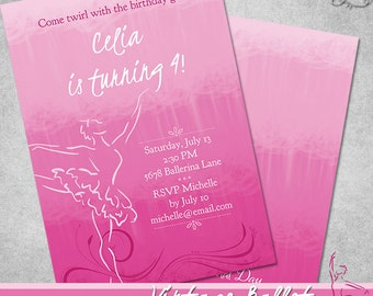 Vintage Ballet Invitation • PRINTABLE • Birthday • Sweet 16 • by The Occasional Day
