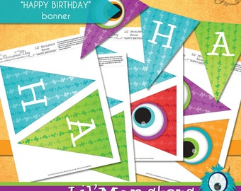 Lil' Monsters Banner • PRINTABLE Birthday • by The Occasional Day