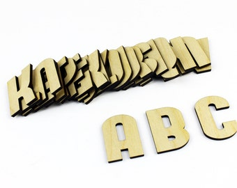 MEDIUM 26 Wooden Alphabet Letters / Wall Hanging / Nursery Decor / Alphabet Wall