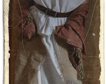 vintage linen shirt Transylvanian linen white work
