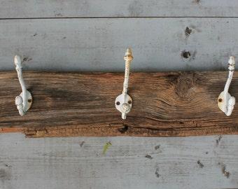 Beach House Hat Rack/Barn Wood Coastal Coat Rack