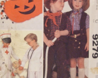 McCall's Pattern # 9279 Size 12 for Doctor, Nurse, Cowboy and Cowgirl Costumes