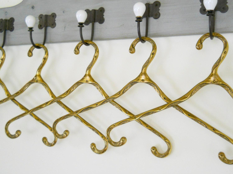 vintage brass clothes hanger coat hanger vintage