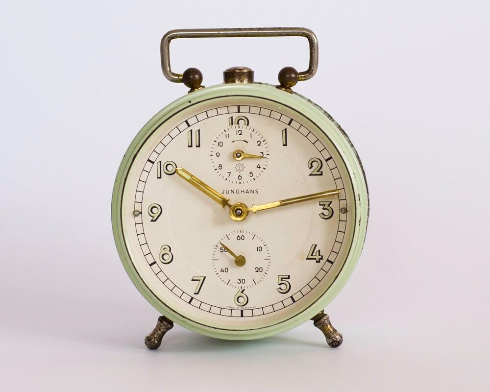 Vintage Alarm Clock JUNGHANS Old German Clock