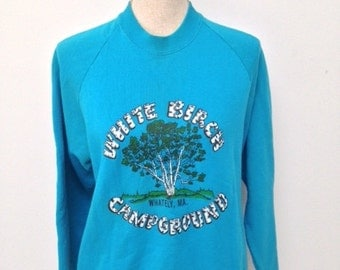Vintage White Birch Camp Sweatshirt
