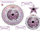 Bright Blessings Pentacle Star Decoupage Card Topper