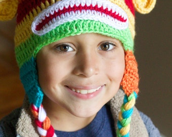 Crochet Rainbow Monkey Hat