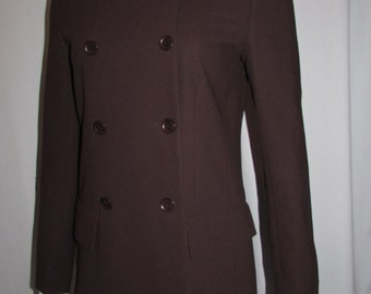 BCBG Long Brown Jacket Double breasted