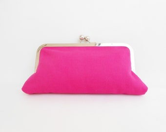 Hot Pink Kiss Clutch
