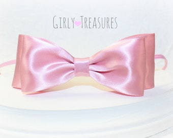 Pink Baby Bow Headband. Baby Headband. Newborn Headband. Girl Headband. Photo Prop. Easter Headband.