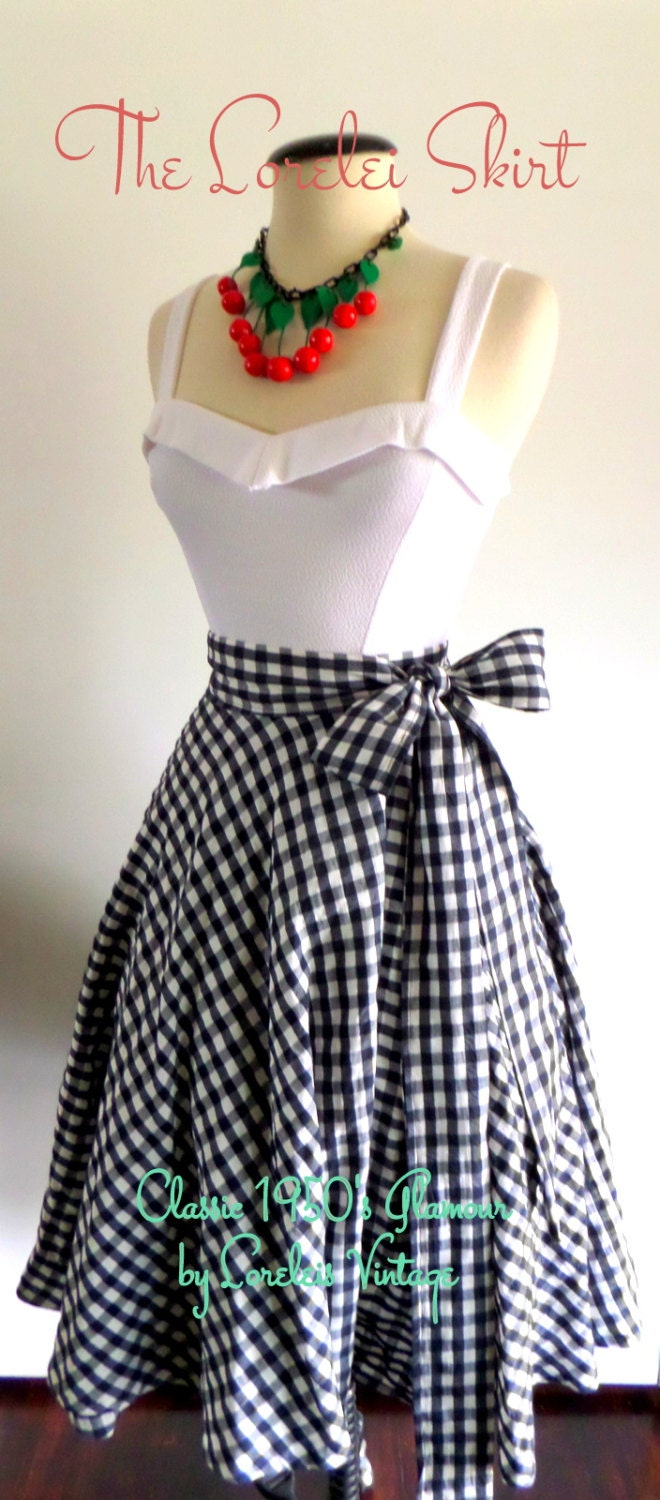 1950 S Glamour Full Circle Swing Wrap Skirt With Darling