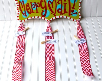 Merry Mail, Christmas Card Holder, Christmas Card Display, Merry Mail Sign, Dr Suess Christmas
