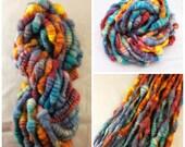 Handspun Art Yarn - Super Bulky Coiled Yarn- Falkland