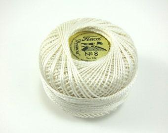 Ecru Finca Perle Cotton Thread Pearl Cotton