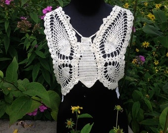 Butterfly Doily Shirt- Up-cycled