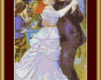 Dance At Bougival Cross Stitch Pattern