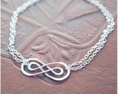 Sterling Silver Double Infinity Bracelet - A Mother's Day is Infinite - Wedding Jewelry - Infinity Jewelry
