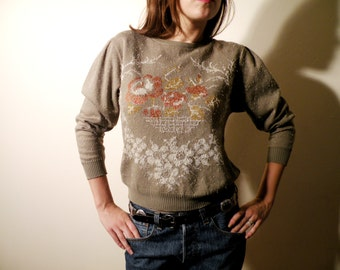 SALE Vintage Cropped Sweater