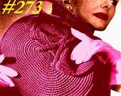 Vintage 1945 Modern Oval Crochet Purse 273 PDF Digital Crochet Pattern