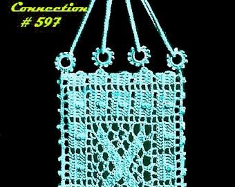 Vintage 1912 Filet Wedding Bridal Communion Bag 597 PDF Digital Crochet Pattern