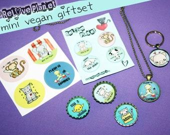 Mini Vegan GIFTSET - Bundle Kit Pack - cute veg kawaii - ReLove Plan.et
