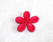 Fuchsia Resin Flower Button -30mm-