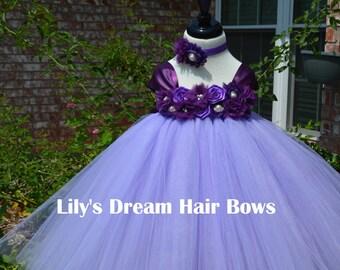 5%OFF lavender tutu dress lavender and purple tutu dress plum flower girl  tutu dress lavender flower girl dress