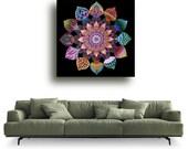 Mandala of Unity, Spiritual Art Print, Meditation Mandala Drawing, Mandala Wall Decor, Chakra Art, Yoga Painting Art, Healing Art Mandala