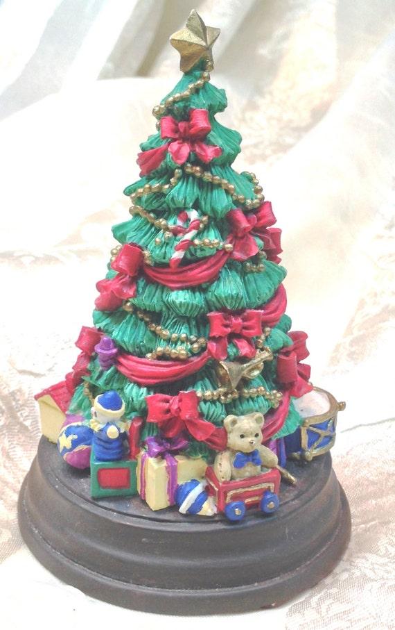Vintage Christmas Tree Music Box Plays O Christmas Tree O