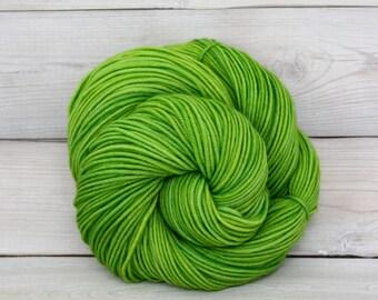 Calypso - Hand Dyed Superwash Merino Wool DK Light Worsted Yarn - Colorway: Katydid