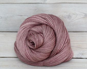 Starbright - Hand Dyed Bluefaced Leicester Silk Heavy Lace Light Fingering Yarn - Colorway: Tea Rose