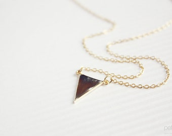 dainty triangle necklace -  delicate, minimalist, geometric gold jewelry, gift for her