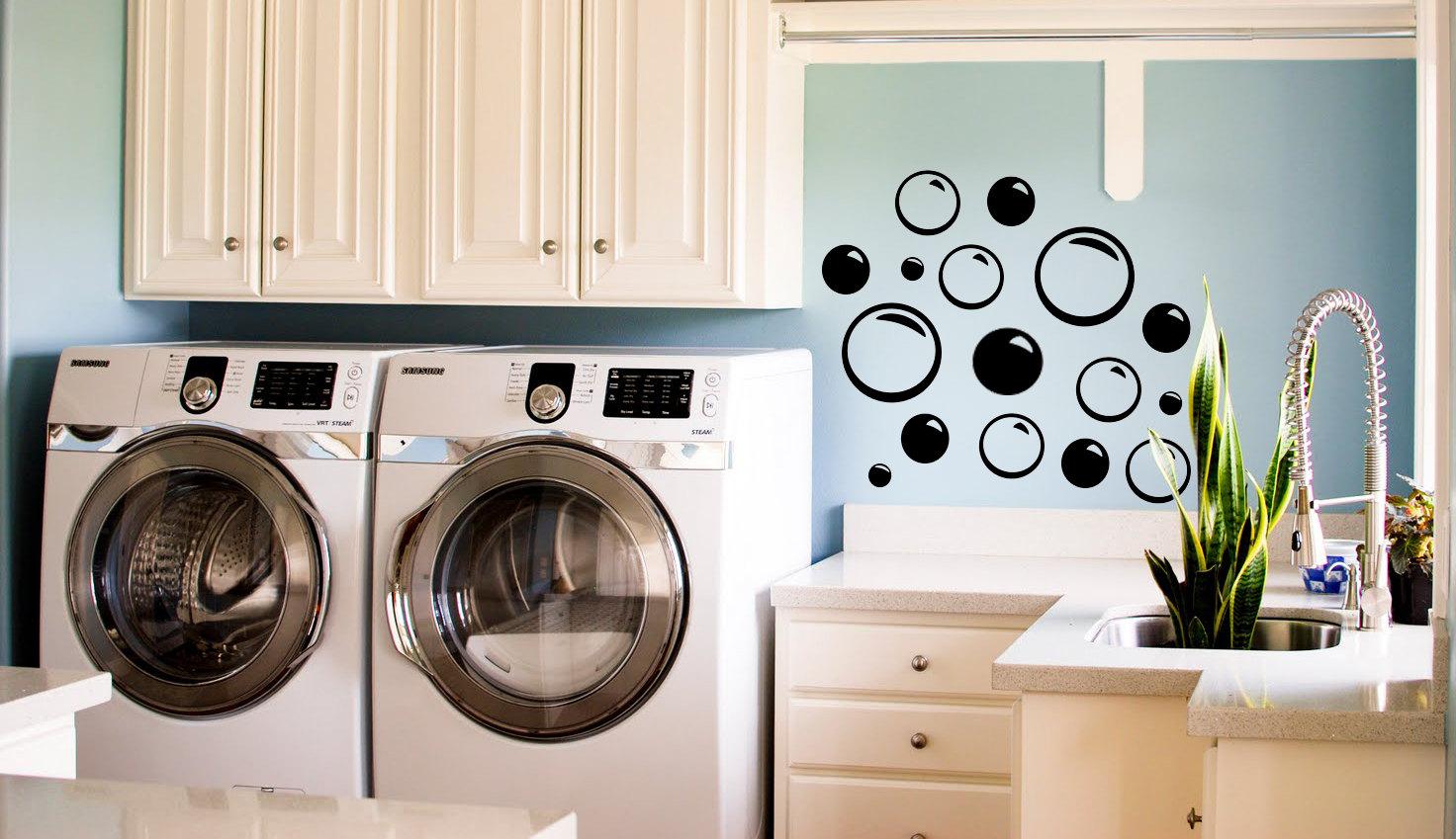 bubble stickers pour salle de bain ou buanderie chambre pack. Black Bedroom Furniture Sets. Home Design Ideas