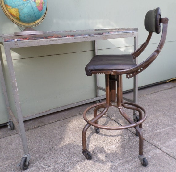 Industrial Drafting Stool Vintage 1950s Machine Age : il570xN653106738ps0u from www.etsy.com size 570 x 557 jpeg 70kB