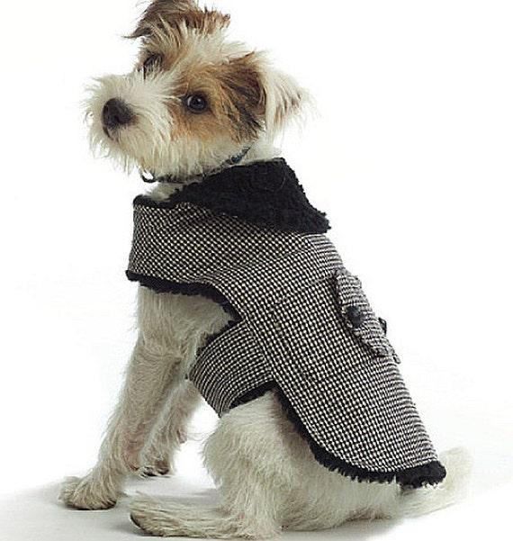 Dog Coat Pattern Butterick 4885 X-Small Small Medium