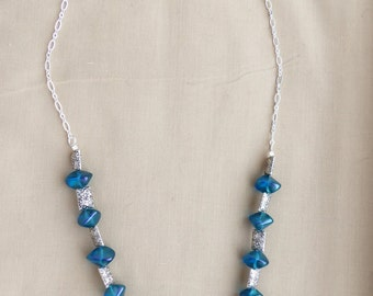 Blue Abstract Necklace