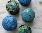 large knobs, dresser knob, medium or large, drawer pulls, blue knob, aquamarine blue, royal blue, green decor, clover green, dragonfly blue.
