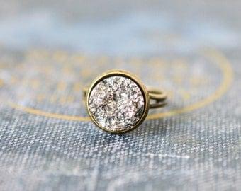 Silver Druzy Ring,  Gypsy Jewelry, Boho Ring, Druzy Jewelry, Drusy Ring, Drusy Jewelry, Bohemian Jewelry