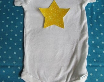 Star iron on applique - for baby bodysuit or kids tee, home decor, baby shower decorating station