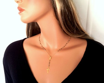 Pyrite Gold Rosary Necklace Gold Rosary Necklace 14kt Goldfilled Custom Rosaries Real Houswives Inspired