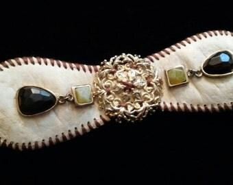 Repurposed Baseball Bracelet