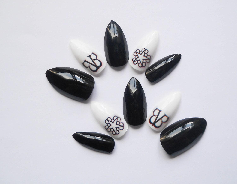 Black Veil Brides Fake Nails